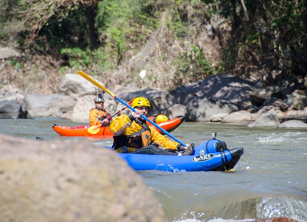 kayak bajo tierra